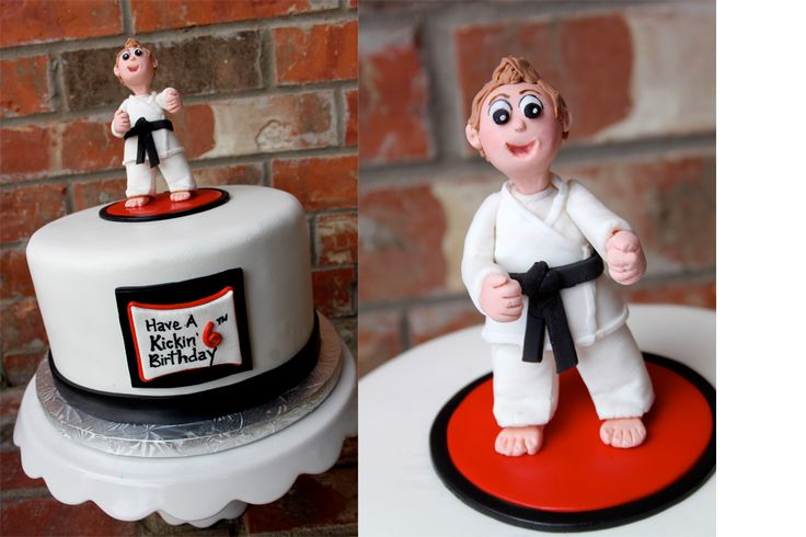 TJ wants a karate cake for his birthday