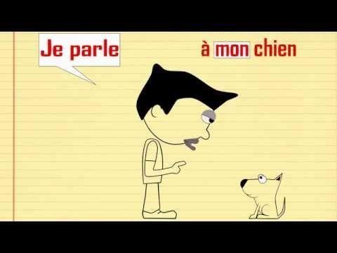 Vidéo 1'36 (Français) - Verbe parler (Présent de l'indicatif) et adjectifs possessifs - alain le lait - www.youtube.com/...