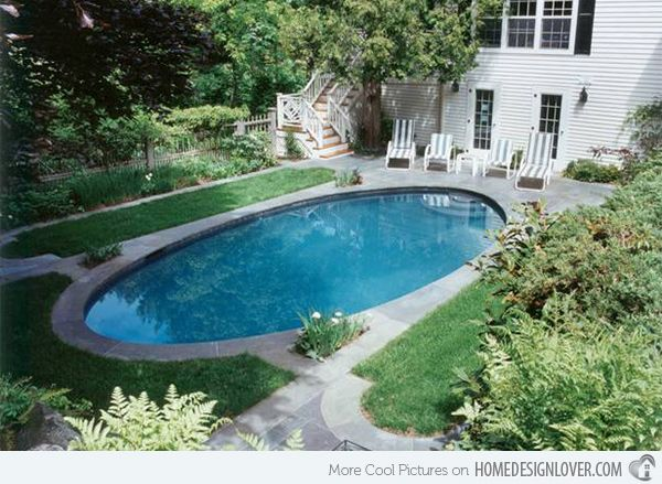 15 Lovely Oval Pool Designs | Home Design Lover