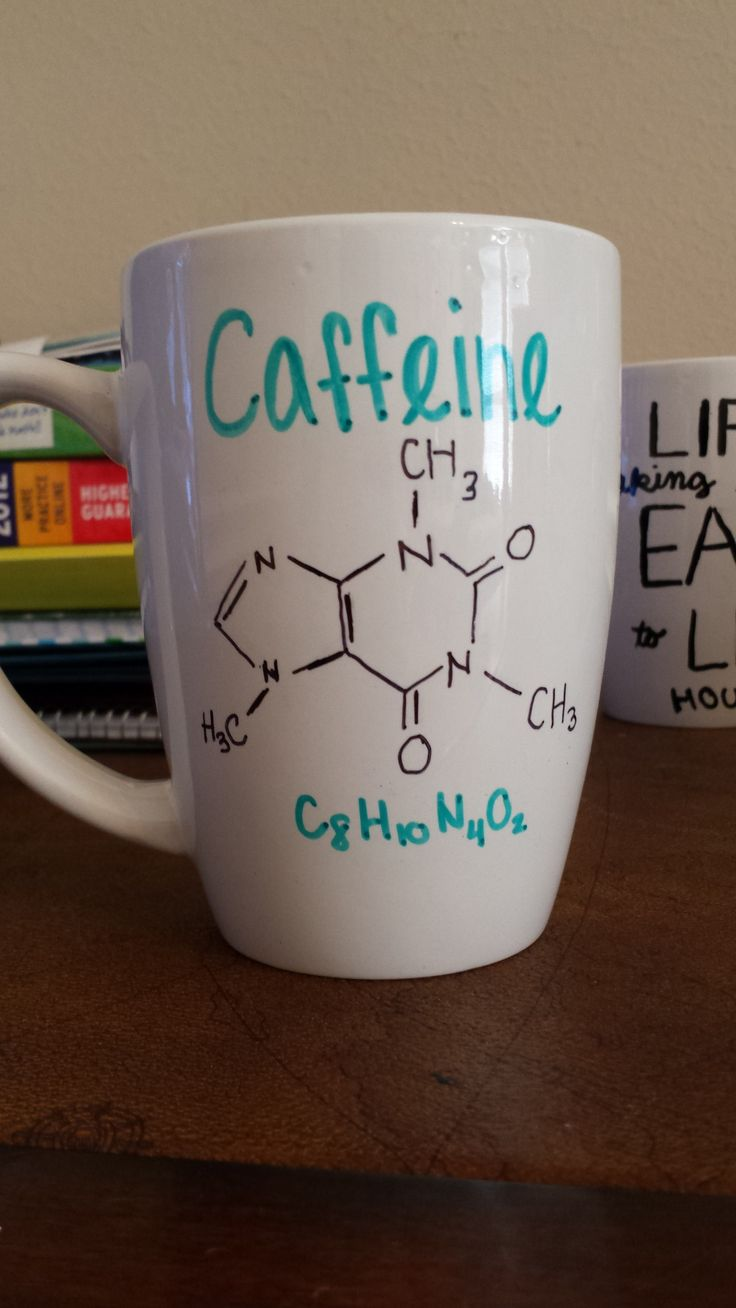 #Taza #personalizada mug original diseño Cafeína química orgánica