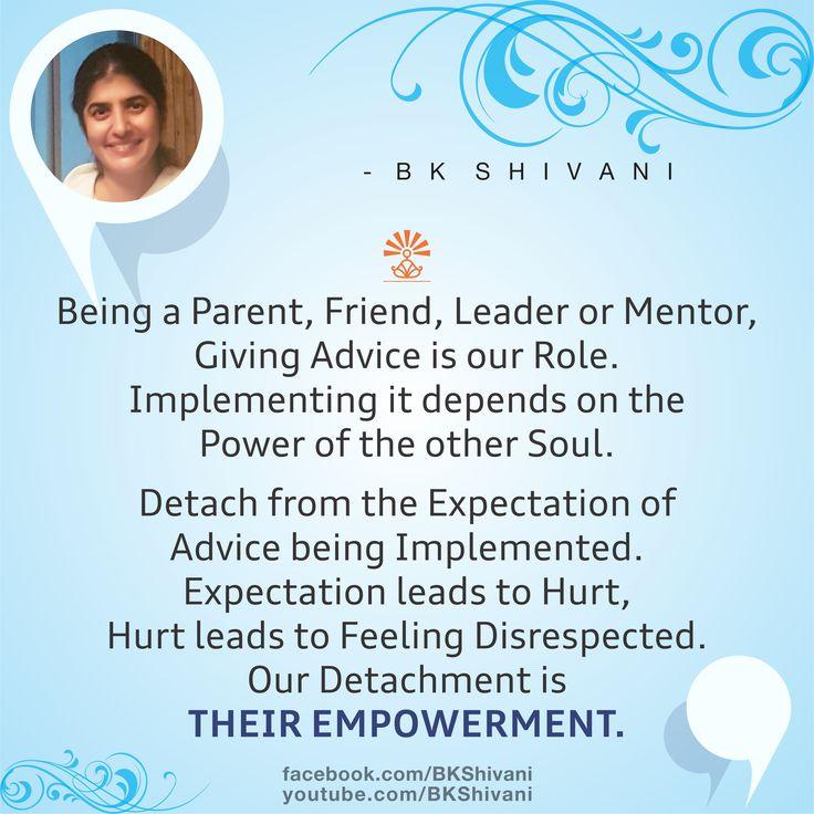 Brahma Kumaris Positive Thinking Quotes: 75 Best B K SHIVANI'S QUOTES Images On Pinterest