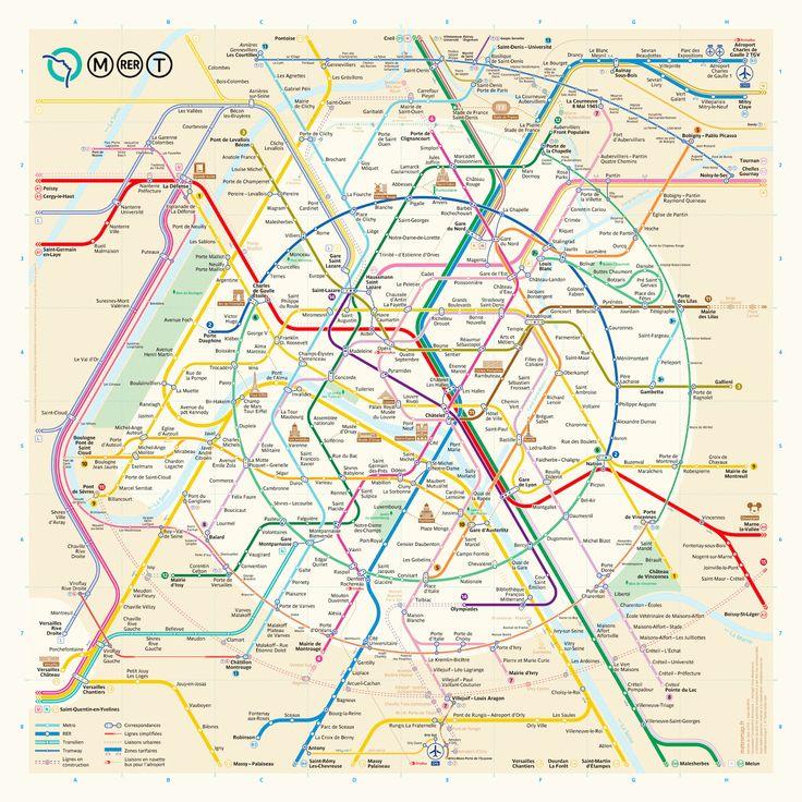 The New Paris Metro Map