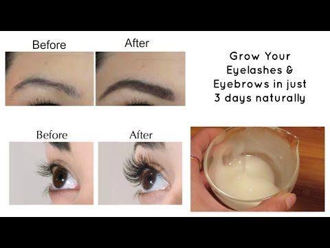 Grow your eyelashes & eyebrows in just 3 days | Eyelash and Eyebrow serum - YouTube