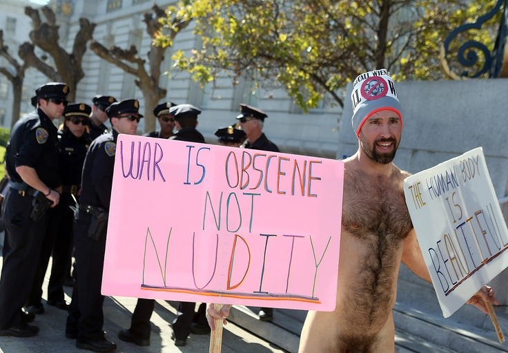 Hair Ball of the Day: The Guy with the Great Butt and Fuzzy Body at SF Nudity Protest Today