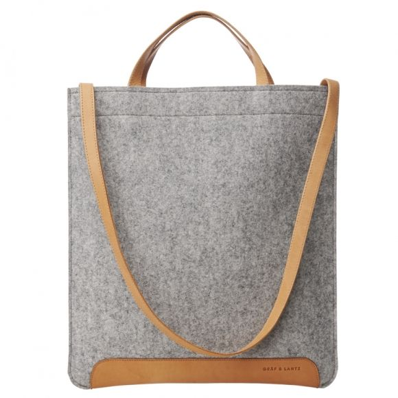 Andie document bag grey   Graf & Lantz   #madeinUSA
