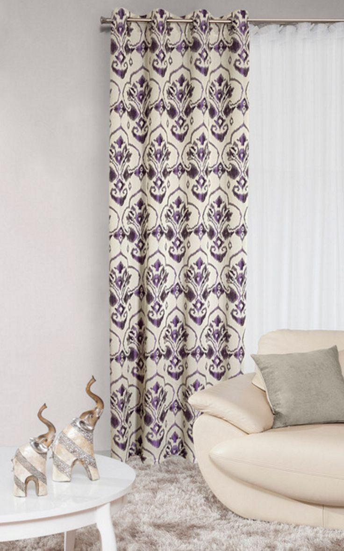 Dekoracyjna zasłona w kolorze fioletowym