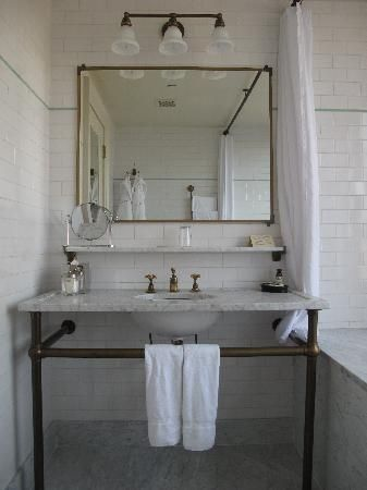 The Bowery Hotel: Bathroom, where the tub was placed by the window so you could look out over the city!