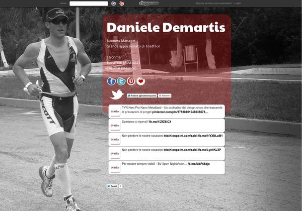 Daniele Demartis - Business Manager Grande appassionato di Triathlon  2 Ironman: Busselton (Australia) Cozumel (Messico)
