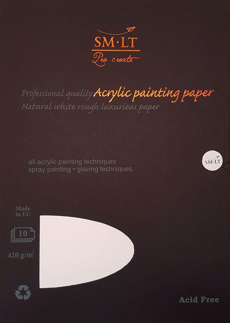 SM-LT Pro Create Acrylic Painting Paper - Akryylimaalauspaperi. #akryylimaalaus #acrylicpainting