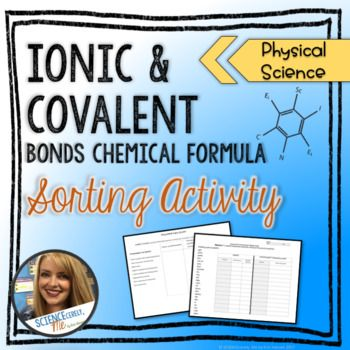 This activity is a way to practice classifying chemical formulas as either ionic or covalent bonds. There is an advanced level of the worksheet that requires students to research the chemical formula of common substances and then determine what bonding they represent.