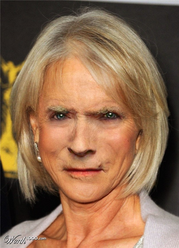 Celebrity Drag Queen Clint Eastwood Photochopped