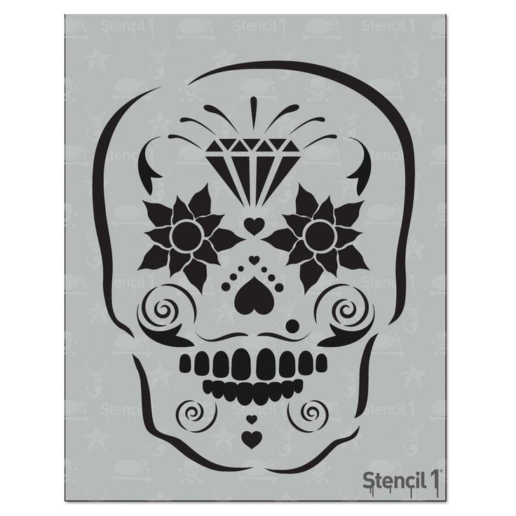 Stencil1 Sugar Skull Stencil