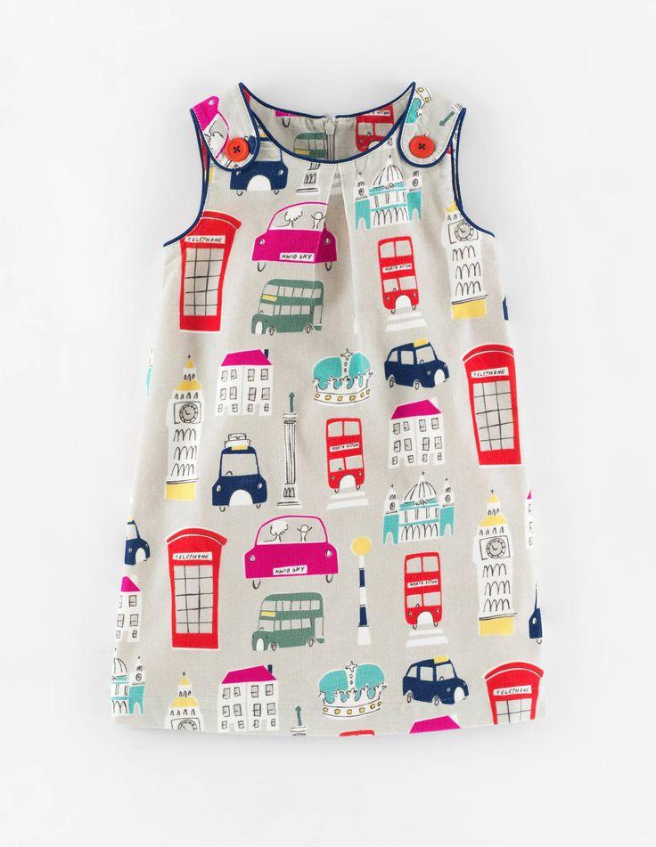 Mini Boden Button Pinafore Dress. #BacktoSchool