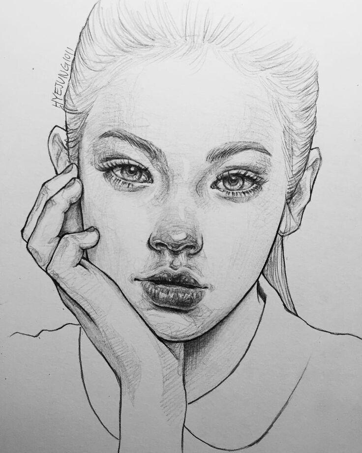 Эскизы картинок лица