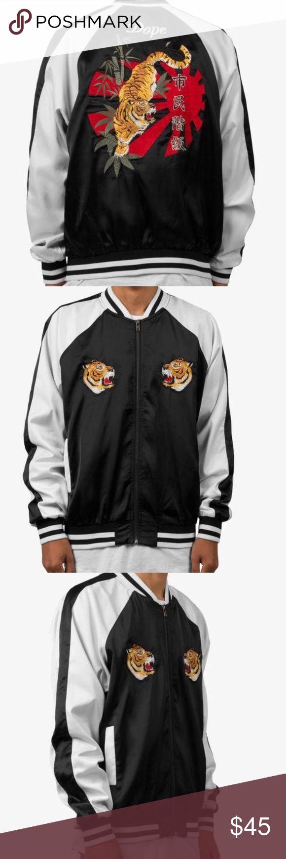 DOPE-satin jacket (sold out everywhere) DOPE satin jacket with Japanese Tiger Design. UNISEX. Brand new DOPE Jackets & Coats Bomber & Varsity