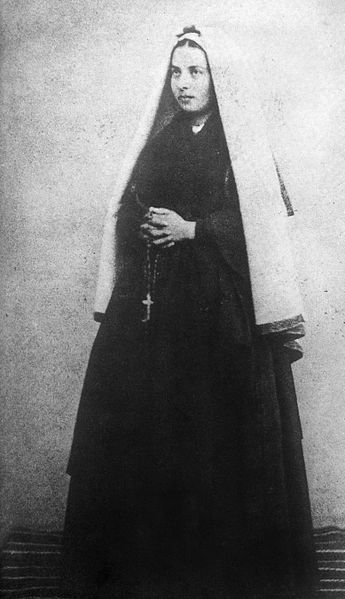 St Bernadette - from wonderful 1904 account  ...  http://corjesusacratissimum.org/2012/07/the-story-of-bernadette-and-lourdes-part-ix-after-the-apparitions/