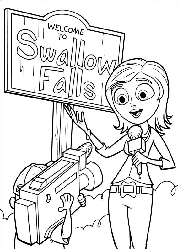 Cloudy with a Chance of Meatballs Coloring pages for kids. Printable. Online Coloring. 22