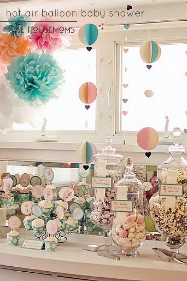 Our Hot Air Balloon Baby Shower is a unique gender neutral