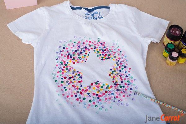 Heute stempeln wir ein T-Shirt schöner!