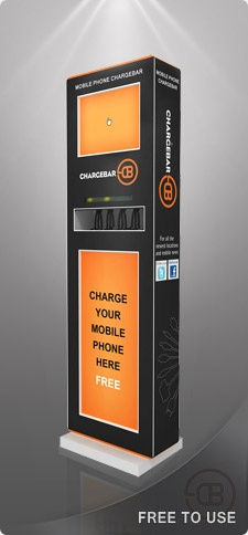Chargebar phone charging kiosk.  This is the Australian version.