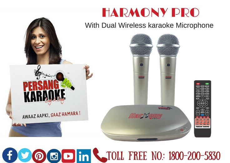 Harmony Pro (With Dual Wireless karaoke Microphone)  Lyrics in Hindi & English for Hindi Songs,16GB inbuilt Memory,2.4 GHz Microphone,E-Manual,Total 13 Languages & Can Attach Extra Wired Microphone PersangKaraoke #KaraokeTablet Karaokeindia #Karaokemachine BestKaraoke Total Song Bank of 6061 which comprises of (Hindi, English, Konkani, Gujarati, Bhojpuri, Bengali, Kannada, Malayalam, Marathi, Punjabi, Telugu, Tamil, Nepali).