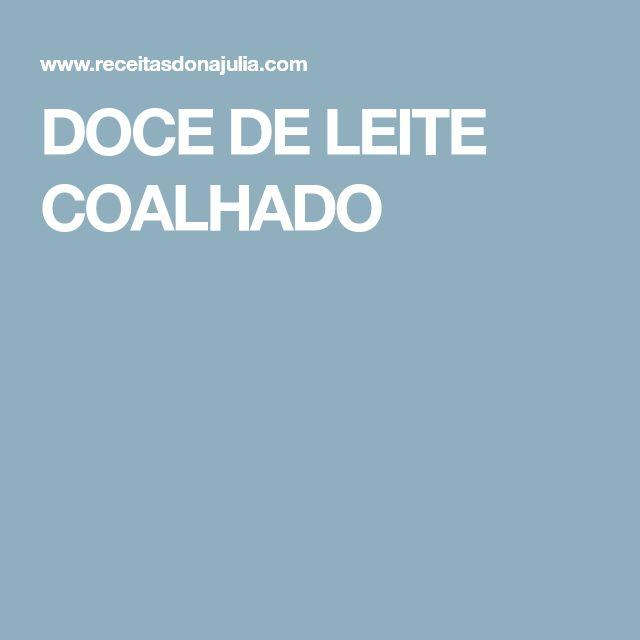 DOCE DE LEITE COALHADO