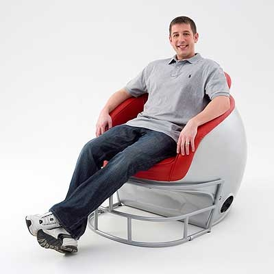 Oh my, these would be perfect downstairs.....Ohio State Football Helmet Shaped Chair