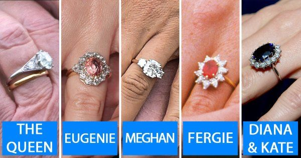 Meghan Markle Kate Middleton And The Queen Engagement Ring