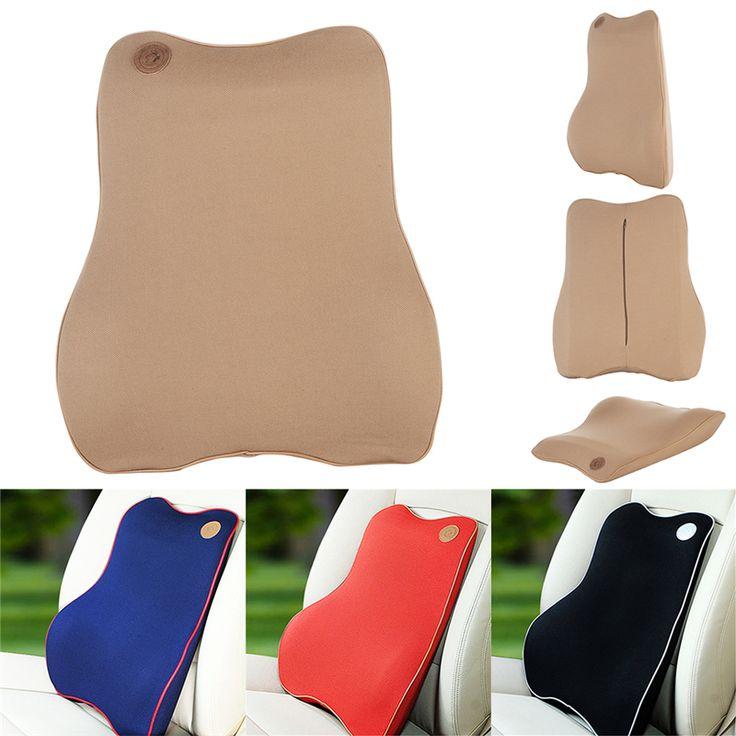 1PCS Car Neck Pillow High Grade Memory Foam Car Lumbar Support Set Back Lumbar Pillow Cushion for Driving Travel Office Home