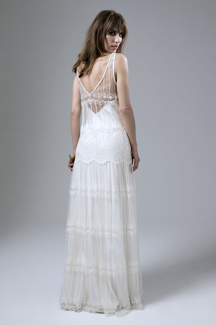 138 best lace wedding dresses by halfpenny london kate halfpenny marilyne v neck french lace and chantilly lace wedding dress by halfpenny london ombrellifo Image collections
