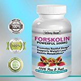 STRONG  500mg FORSKOLIN Extract for Weight Loss Pure Natural Vitamin Supplement Maximum Strength 60 super powder veggie capsules pills dr oz diet bounty