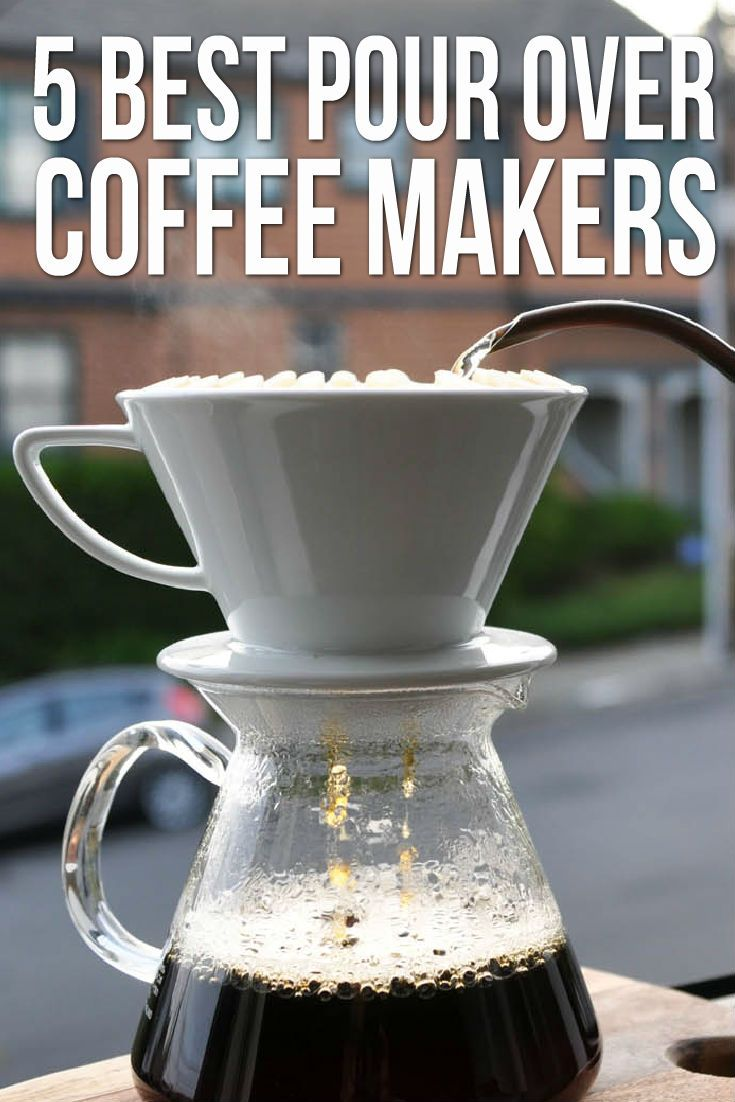 """Pour over coffee makers are the """"Western"""" version of the cafetiere, or French press. Instead of brewing coffee in the enclosed glass carafe, the pour-over coffee maker is like a small version of a regular drip coffee machine. You have a carafe that holds the water, as well as a plastic filter holder that you place on top your cup."""