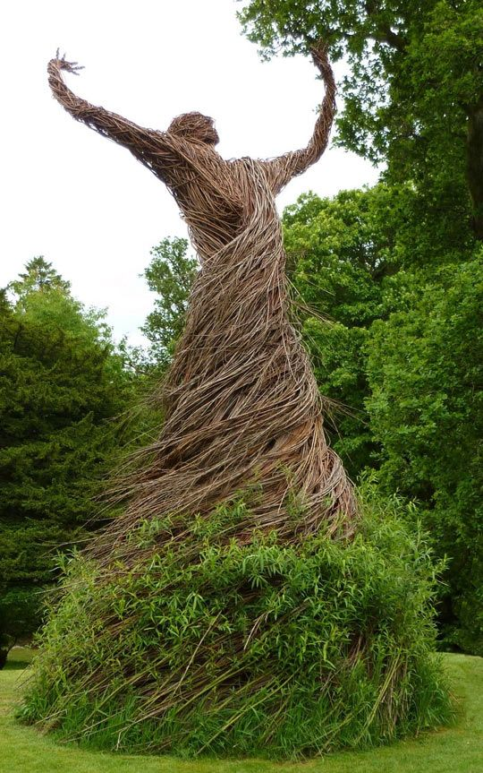Living Willow Statue...think this from our old castle estate on the Isle of Lewis, Scotland...