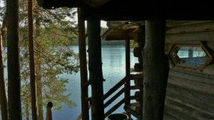 Nordic Adventures log cabin at Salla