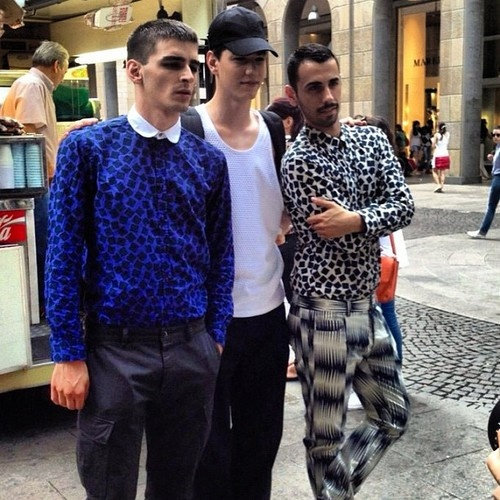 Simone Nobili after the show @ Moschino Spring/Summer 2013 Milan Fashion Week (June 25, 2012 18:00)