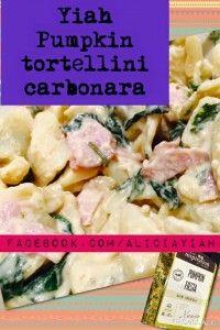 Pumpkin Tortellini Carbonara