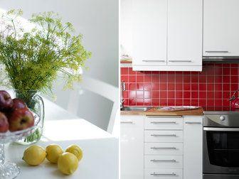 Bilder, Kök/matplats, Kakel, rött, Detalj - Hemnet Inspiration