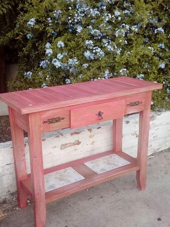 mesa de arrime / consola  vintage