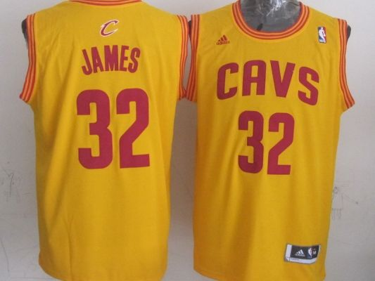 ... NBA Cleveland Cavaliers 32 James Yellow 2014 Jerseys Cleveland  Cavaliers 23 Lebron James Revolution 30 Swingman ... f63177ef3