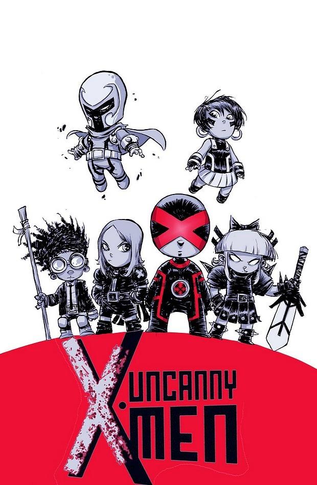 Uncanny X-Men #1 variant cover by Skottie Young.