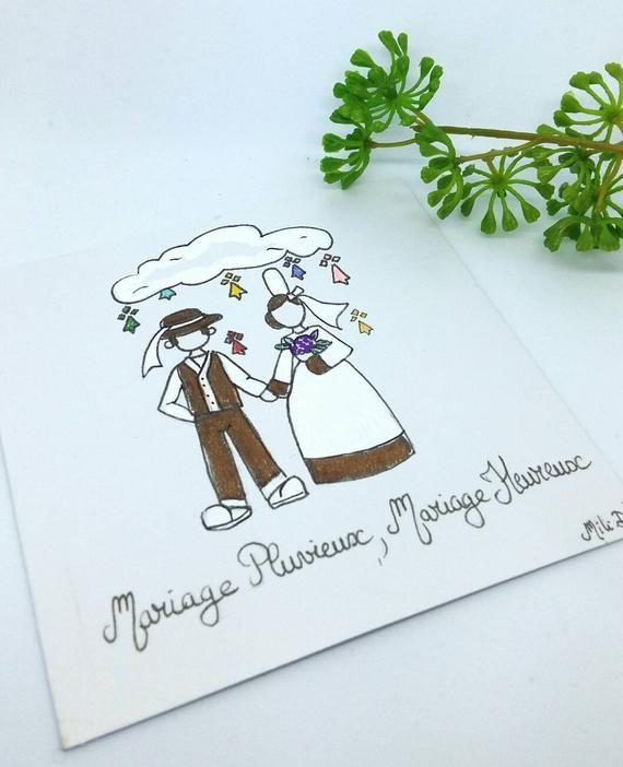 Nouveau Carte annonce Mariage, couple breton, cadeau mariage, faire part EP-09