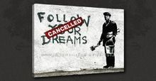 Banksy Follow Your Dreams Graffiti Canvas Art Oil Paintings Canvas Art Picture For Living Room Study Art Impression On Ca(China (Mainland))