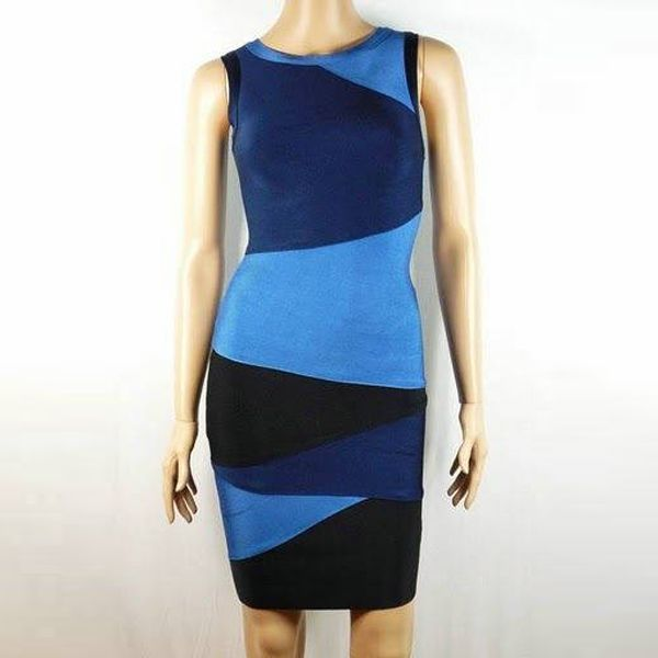 Herve Leger Couture Dress in Black or Blue