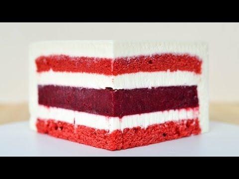 Муссовый торт Красный бархат ☆ Зеркальная глазурь ☆ Mousse Cake Red Velvet - YouTube