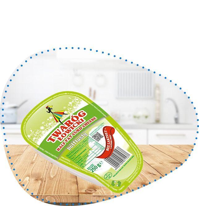 Twaróg półtłusty klinek bez laktozy 250 g | OSM Łowicz