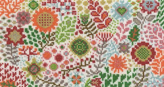 Blossoming Buds Cross Stitch Kit £18.20 | Past Impressions | DMC