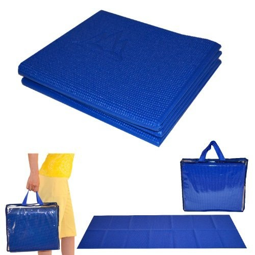 "Khataland YoFoMat - Best Travel Yoga Mat - Royal Blue,Extra Long 72"",1/6"" Thick -Foldable to 12""x10""x3"",Eco Friendly,Free From Phthalates/Latex: Amazon.com: Sports & Outdoors"