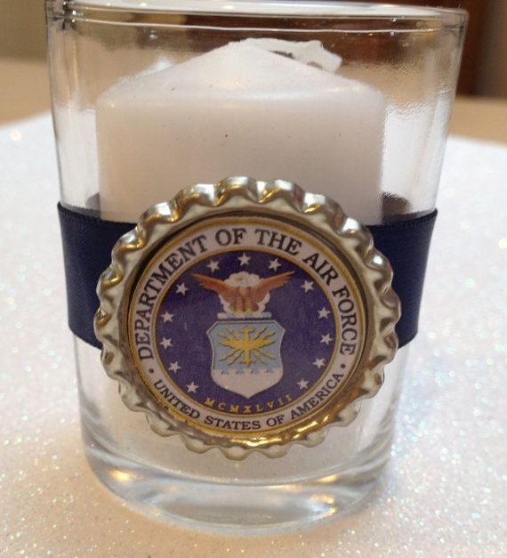 US Air force Votive Candle by TotalBlissBoutique on Etsy, $3.00