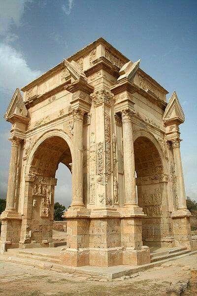 - Arco de Septimius Severus , Liptes Magna , Tripoli , Libia ./tcc/