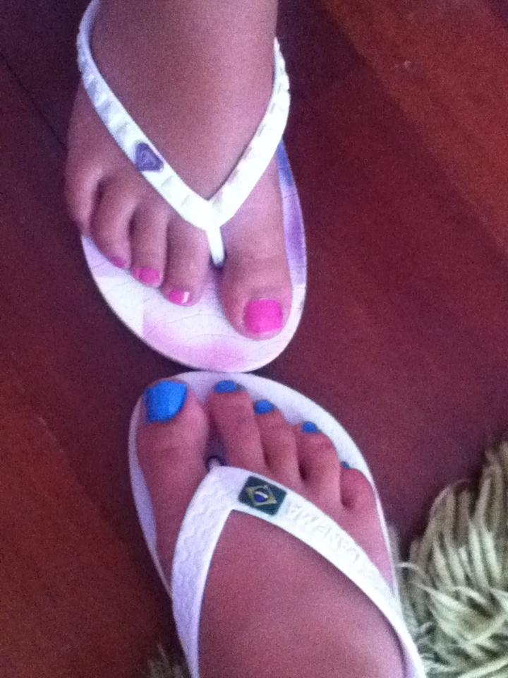 Uñas de los pies veraniegas